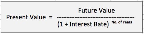 Present Value Calculation Formula