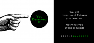 investment returns you deserve